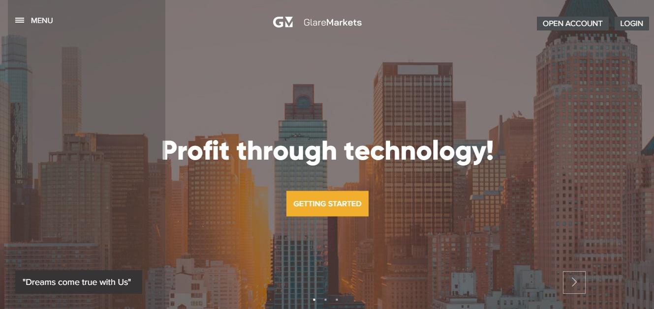 Glare Markets website