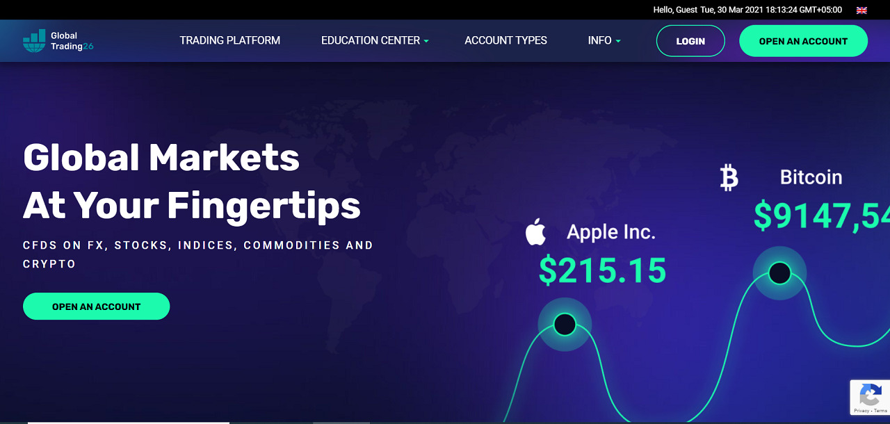 GlobalTrading26 Review – A Versatile and Exciting Trading Platform