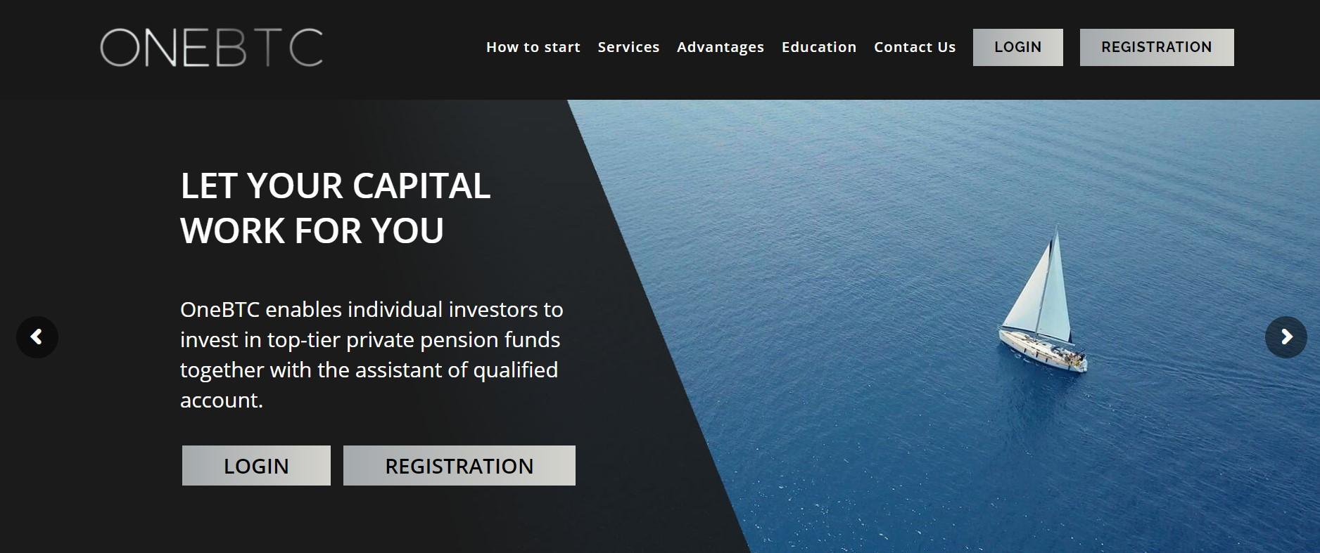 OneBTC website