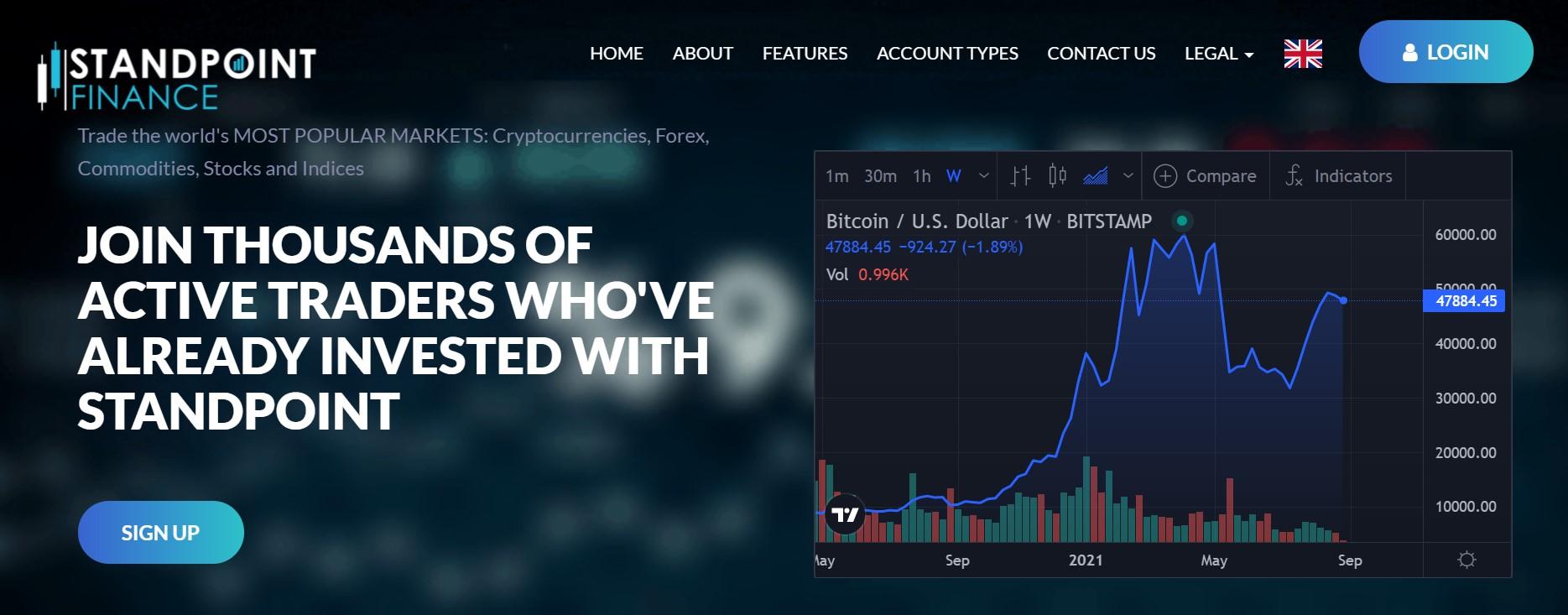 Standpoint Finance website